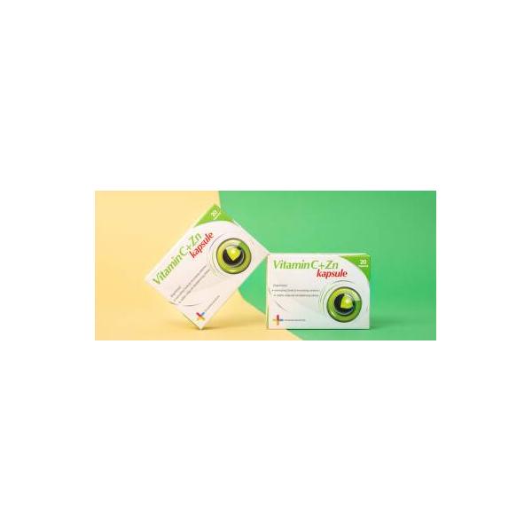 Vitamin C + Cink 20 kapsula