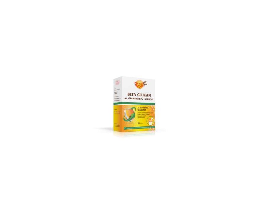 Natural Wealth Beta glukan sa vitaminom C i cinkom 20 kesica