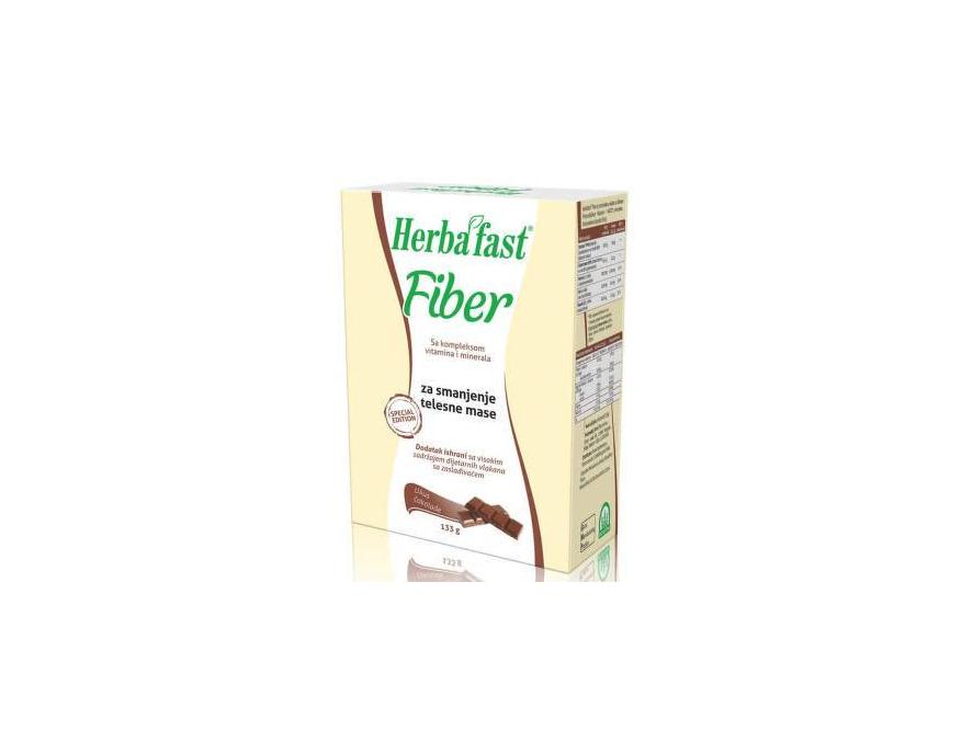 Herbafast® Fiber - čokolada, 10 kesica