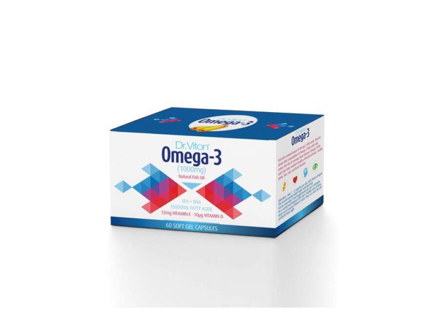 Dr Viton Omega 3 + Vitamin E + Vitamin D3 60 kapsula